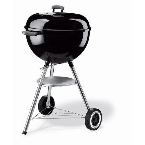 """Weber One Touch Silver 18.5"""" Charcoal Grill, Black"""