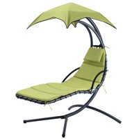 Deals on Hanging Rocking Sunshade Canopy Chair Chaise Umbrella