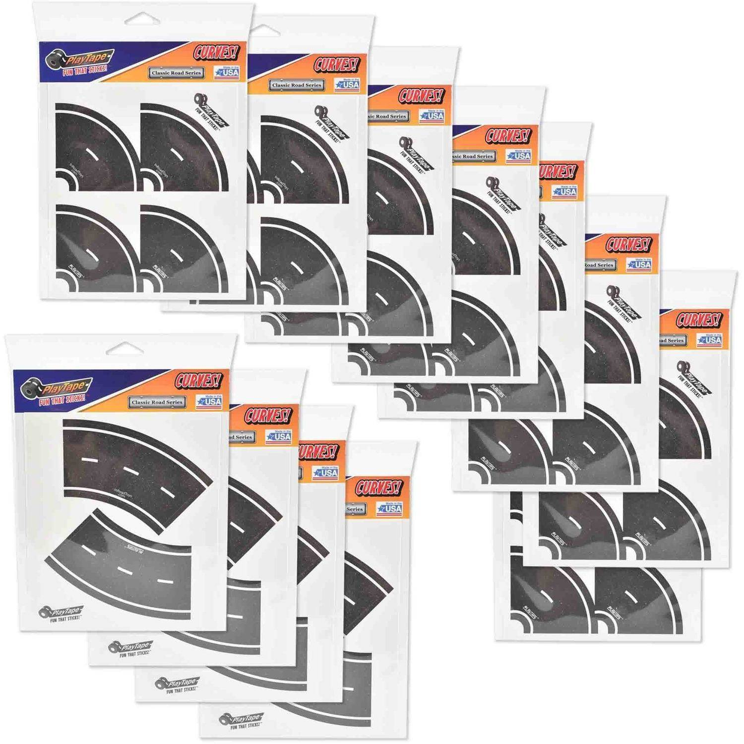 "PlayTape Classic Road Series Bundle 2"" Tight Curves, Full Case with 96 Curves"