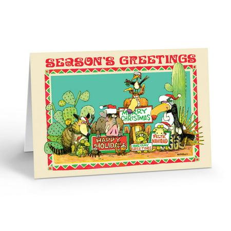 Stonehouse Collection Season's Greetings Desert Animals Christmas Card - 40056 ()