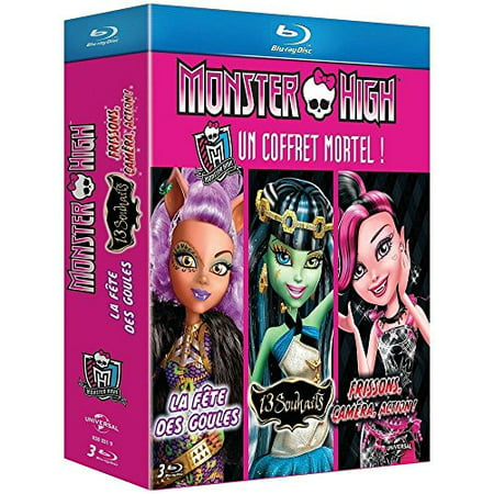 Monster High Collection (3 Films) - 3-Disc Box Set ( Monster High: 13 Wishes / Monster High: Ghouls Rule! / Monster High: Frights, Camera, Action! ) [ Blu-Ray, Reg.A/B/C Import - France