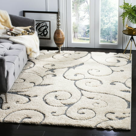 Square Red Shag Rug - Safavieh Florida Douglas Floral Vines Shag Area Rug Or Runner