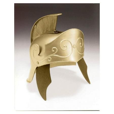 Gold Roman Helmet Halloween Costume Accessory - Roman Halloween Accessories