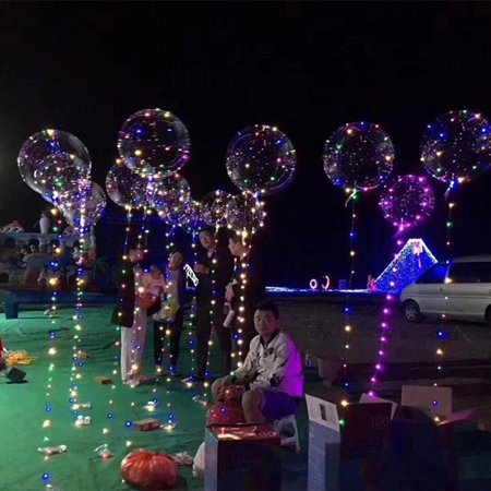 20inch Luminous Led Balloon Transparent Round Bubble Decoration Party Wedding (Led Lights In Balloons)