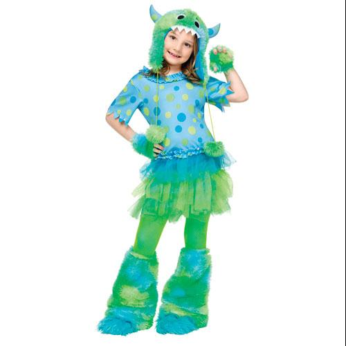 Child Monster Miss Girls Halloween Costume sz Medium