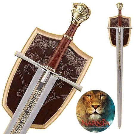 Chronicles Of Narnia Deluxe Prince Sword Replica w Wall Plaque Collectible - Narnia Peter Sword
