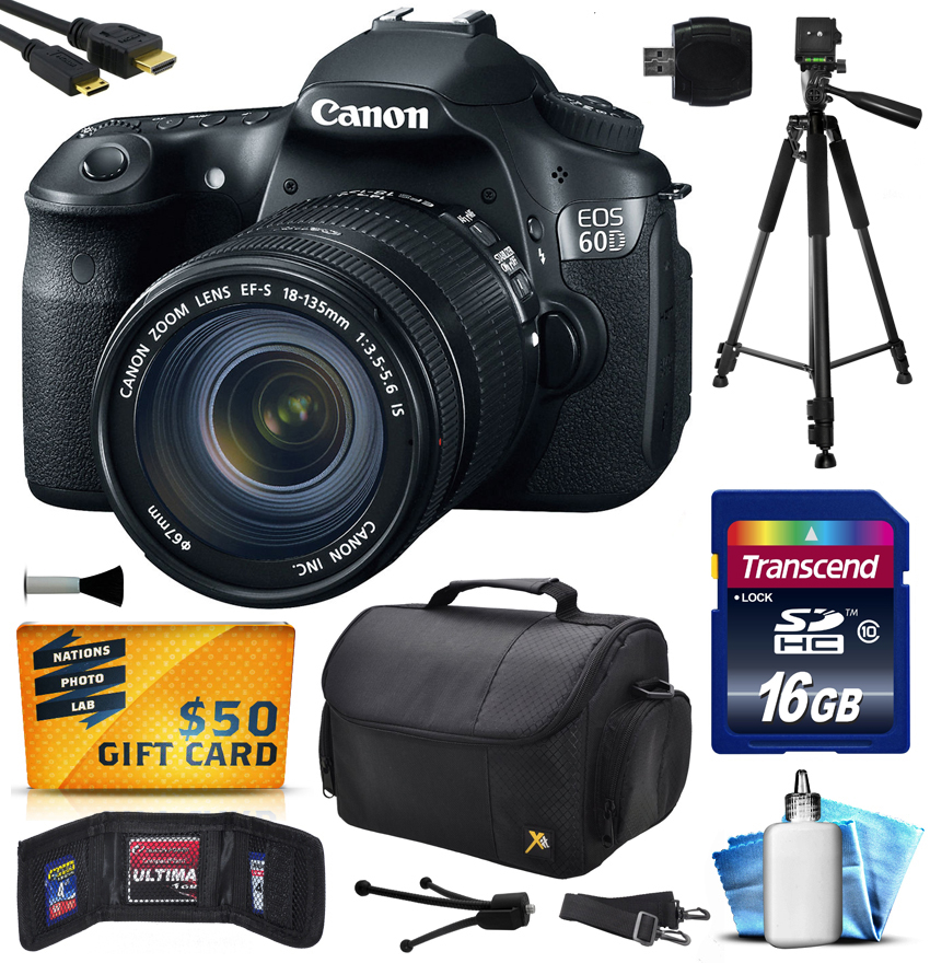 Canon EOS 60D DSLR SLR Digital Camera w/ 18-135mm Lens (1...