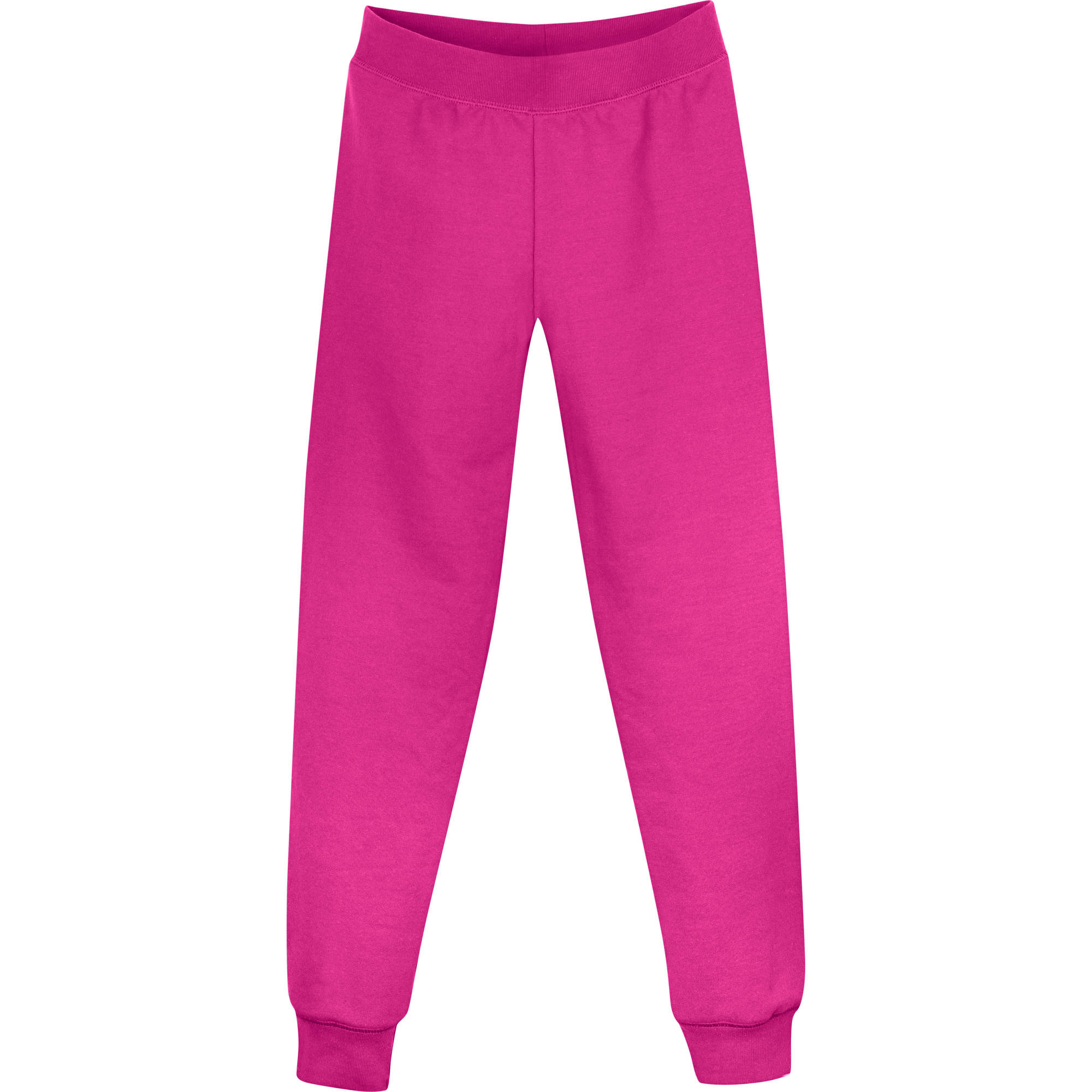 girls fleece slim leg sweatpants walmartcom