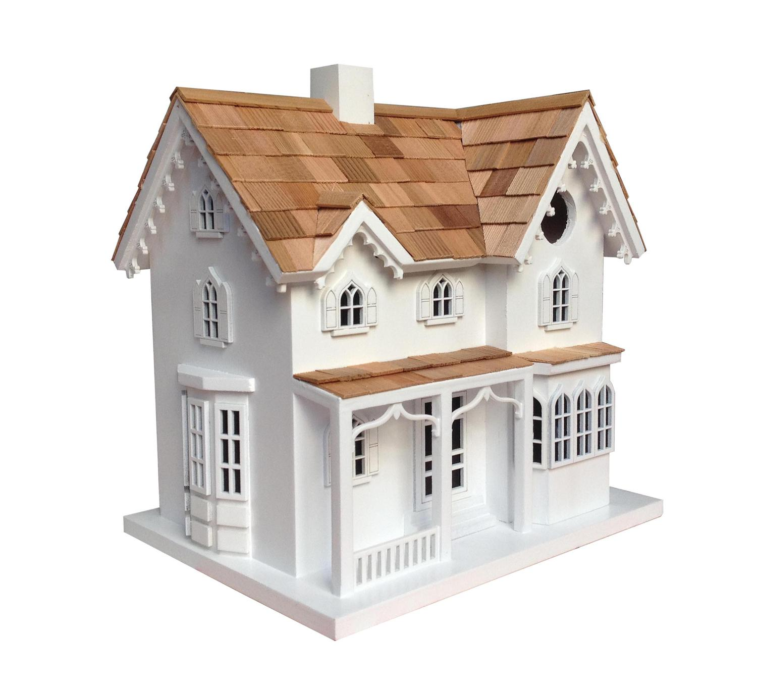 """10.25"""" Fully Functional Historic Reproductions Ornamental Farmhouse Outdoor Birdhouse"""