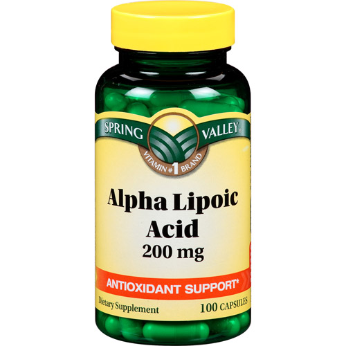 Spring Valley Alpha Lipoic Acid Capsules, 200 mg, 100 count