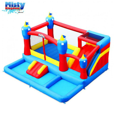 Blast Zone Misty Kingdom Inflatable Bounce and Water Slide