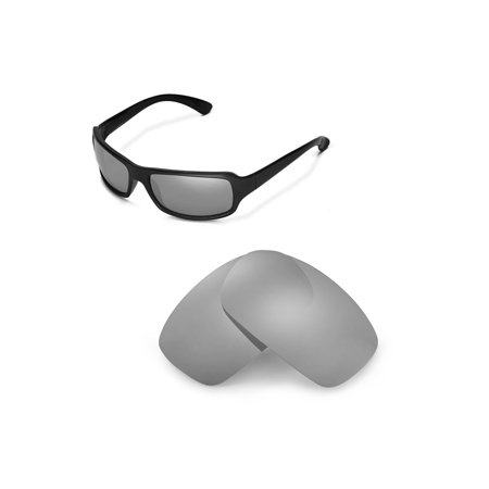 Walleva Titanium Polarized Replacement Lenses for Ray-Ban RB4075 61mm Sunglasses