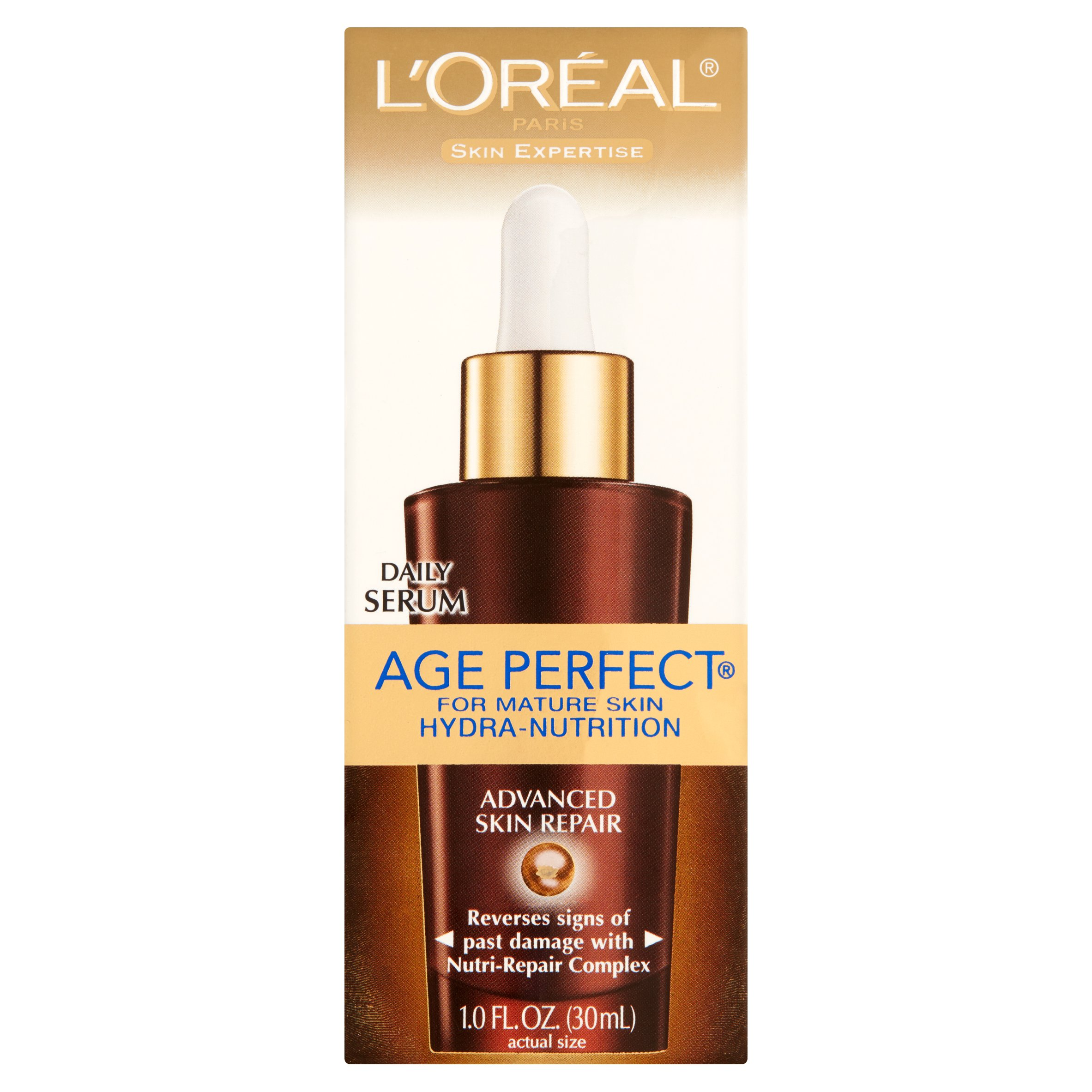 LOreal Skin Expertise Age Perfect Hydra-Nutrition Advanced Skin Repair Serum 1 oz (Pack of 4) (6 Pack) MEDIHEAL Teatree Care Solution Essential Mask