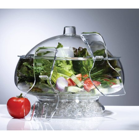 Crystal Salad Bowl (Prodyne Salad On Ice Acrylic with Dome)