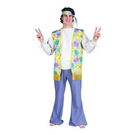 60s Male Flower Child Costume - Size Adult Standard - 60s Flower Child