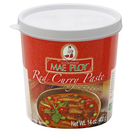Red Curry Paste - Thep Padung Porn Coconut Mae Ploy Paste, 14 oz