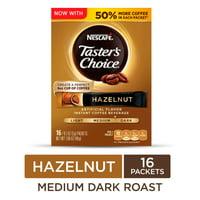 NESCAFE TASTER'S CHOICE Hazelnut Medium Dark Roast Instant Coffee, 16 Packets