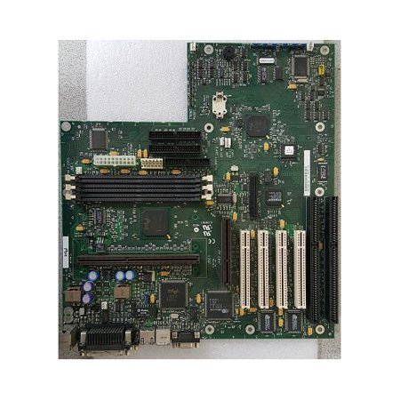 Refurbished-IntelT440BXslot 1 motherboard 440BX chipset. Single Pentium II CPU, 100MHz bus, 4DIMM sockets. Integrated LAN, SCSIGraphics controllers. 3PCI, 1ISA, 1 shared. ATX form factor.