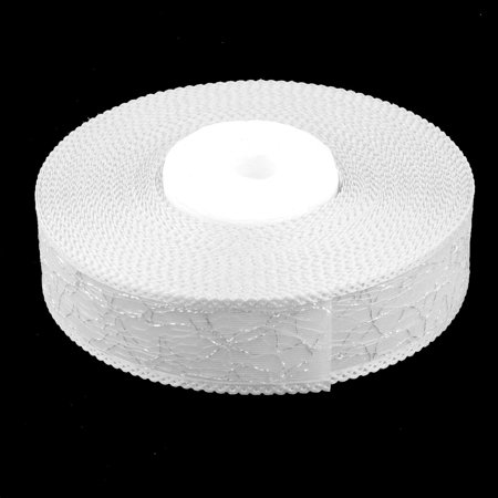 Wedding Festival Polyester Craft Sewing Gift Packing Ribbon Roll White 20 Yards - image 3 de 5