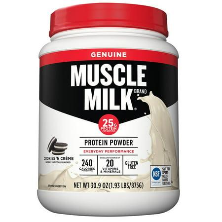 Muscle Milk  Genuine Cookies N Creme Protein Powder 30 9 Oz  Bottle