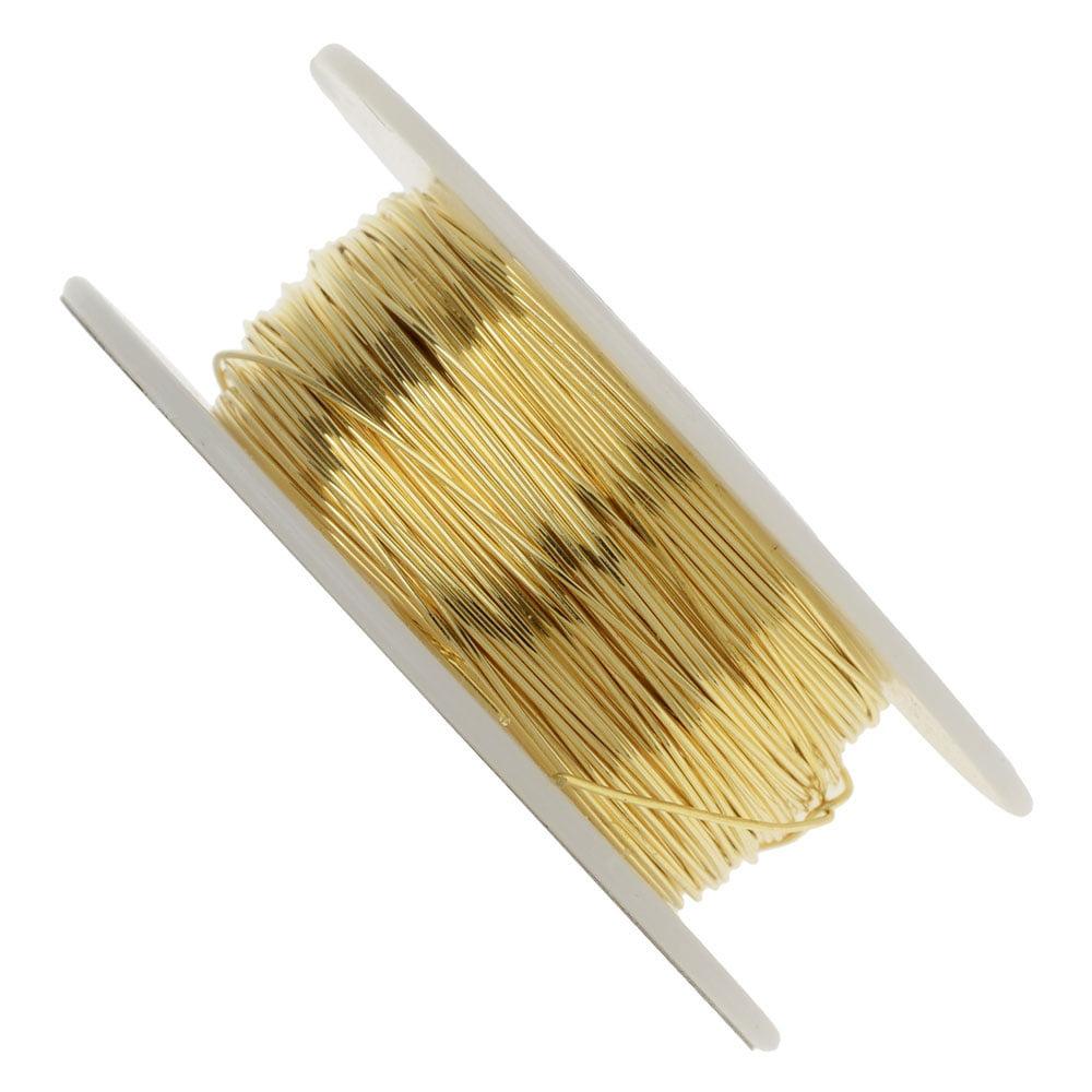 Vintaj Parawire, Solid Brass Craft Wire 24 Gauge Thick, 90 Foot Spool, Brass