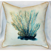 "Betsy Drake HJ703 Blue Coral Art Only Pillow 18""x18"""