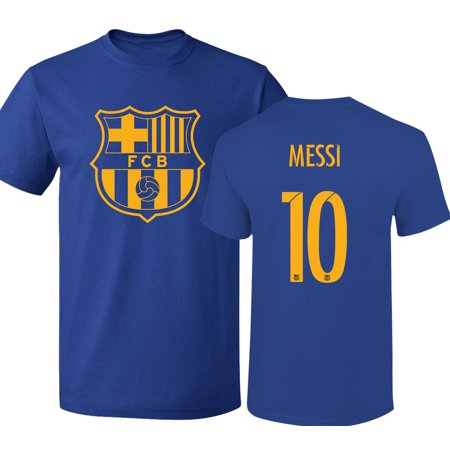 buy online c2853 c4b99 Barcelona Shirt Lionel Messi Soccer Futbol Jersey Shirt #10 T-Shirt