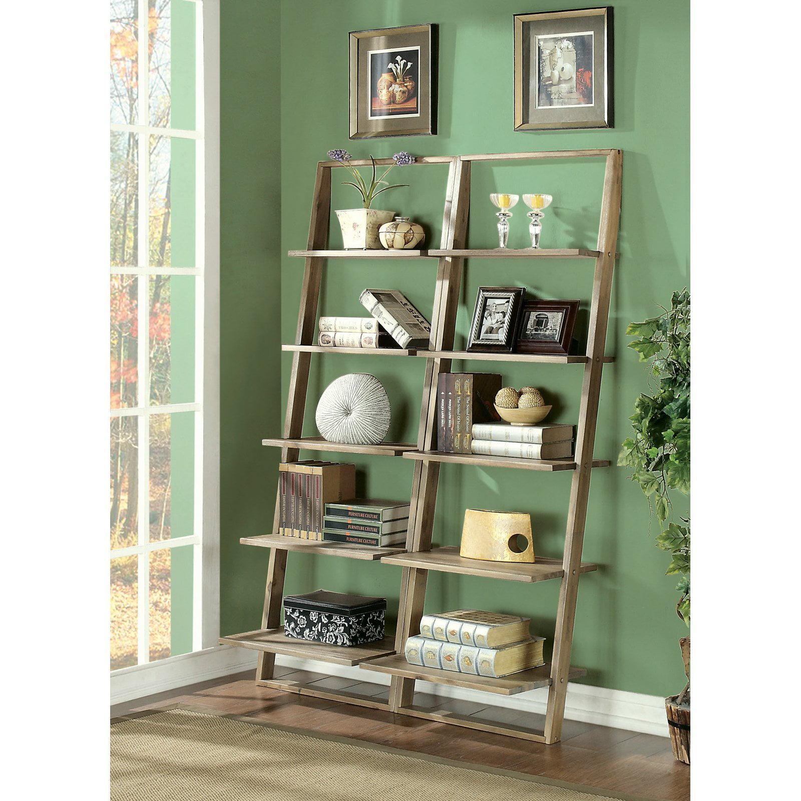 Riverside Lean Living Leaning Bookcase