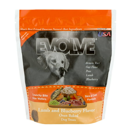 Small Crunchy Bites (Evolve Crunchy Bite Size Wafers Lamb and Blueberry Flavor, 12.0 OZ )
