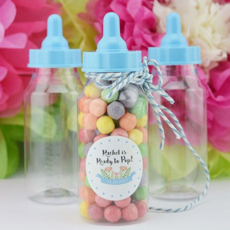 Quasimoon Baby Boy Milk Bottle Candy Favor Gift Container - 4.4 in (12-PACK) by PaperLanternStore