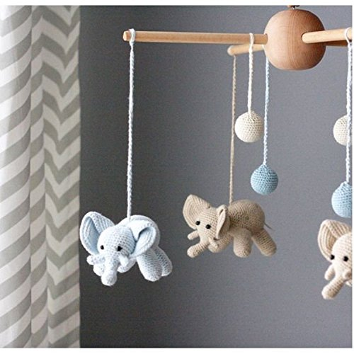 Handmade Elephant & Bubble Baby Mobile by bebemoss