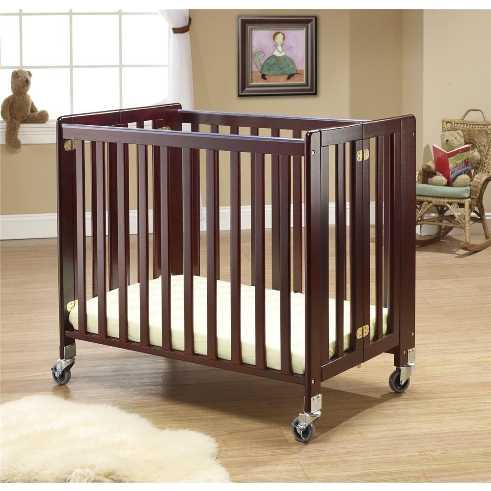 Lilly Commercially Rated Portable Crib -Color:Cherry by Orbelle