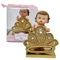 "Baby Shower Party Favor Girl Princess Figurine Keepsake Decoration 3"" H"