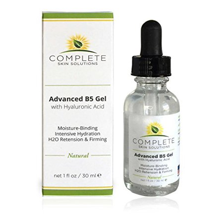 Complete Skin Solutions Advanced B5 Gel With Hyaluronic Acid 1oz Moisturizing & Hydrating Face Serum For Skin Rejuvenation Nutritious Natural Formula With Firming & Healing