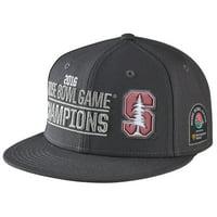 Stanford Cardinal Nike 2016 Rose Bowl Champions Players Locker Room Snapback Adjustable Hat - Anthracite - OSFA