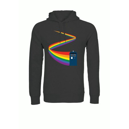 Doctor Who Current Rainbow Trail TARDIS Adult Pullover Hoodie - Doctor Who Hoodie