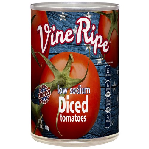 vine ripe low sodium diced tomatoes 145 oz walmartcom