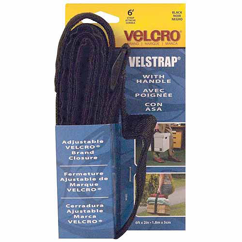 "Velcro Usa Black Velstrap Strap with Handle, 2"" x 6'"
