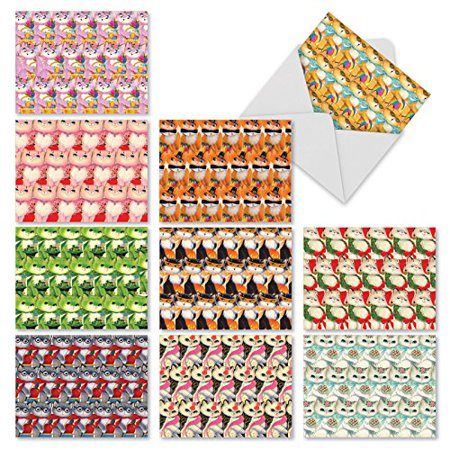 'M2330TYG CATOMANIA' 10 Assorted Thank You Greeting Cards Featuring Cute Kitties Celebrating Holidays and Seasons Throughout the Calendar Year with Envelopes by The Best Card Company