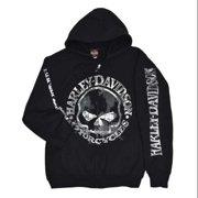 Medium Men's Zippered Sweatshirt Jacket, Willie G Skull (M) 30296647