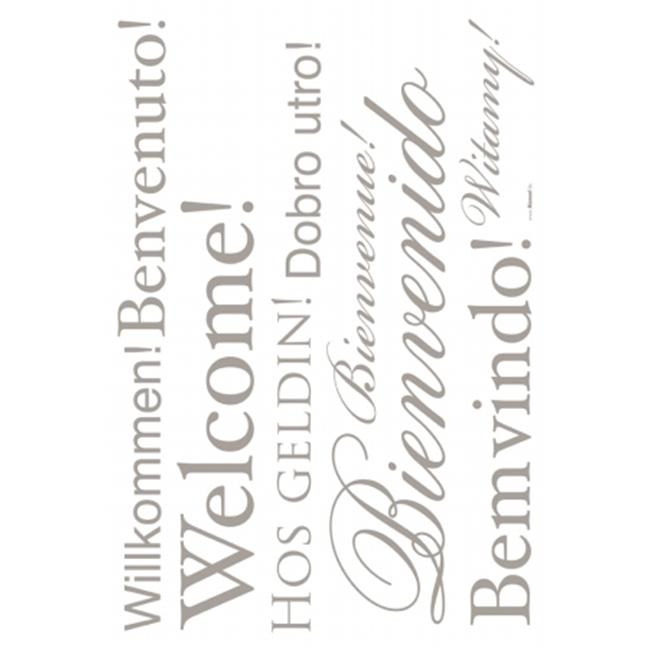 Komar Living LV19000 Peel and Stick Welcome European Wall Decals