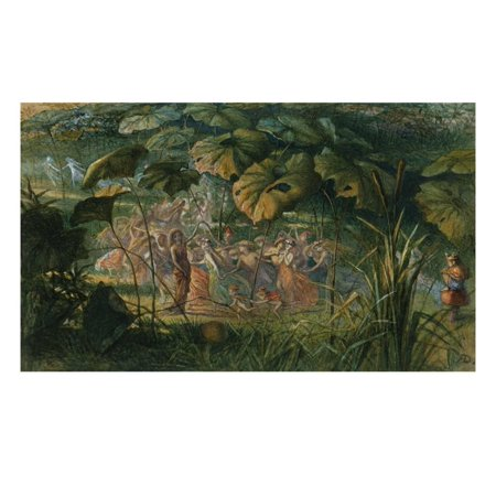 Fairy Dance in a Clearing Print Wall Art By Richard Doyle