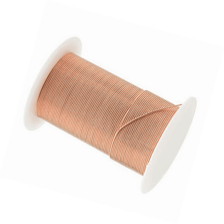 Tarnish Resistant Copper Wire 22 Gauge 20 Yard (18.2m) Copper Color (22 Gauge Circuit Wire)