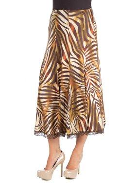 a336d84daf Product Image 24seven Comfort Apparel Flowy Animal Print Midi Maternity  Skirt