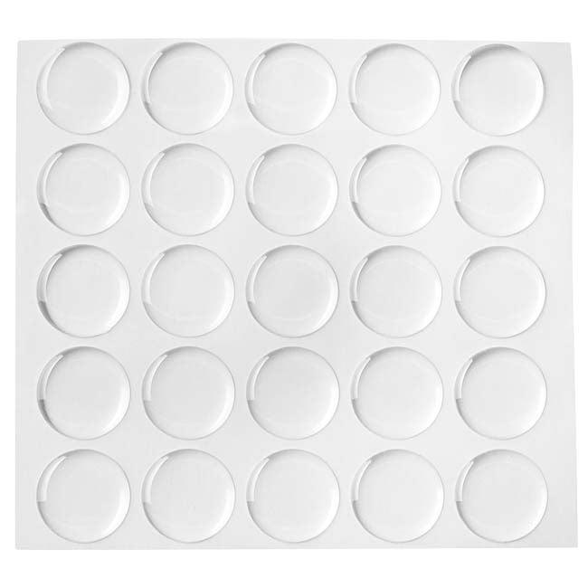 "1"" Circle Epoxy Stickers For Bottle Cap Pendants (25)"