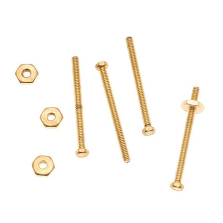 Nunn Design Brass 3/4 Inch Hex Micro Screw And Nut Set 1.5mm Wide (4)