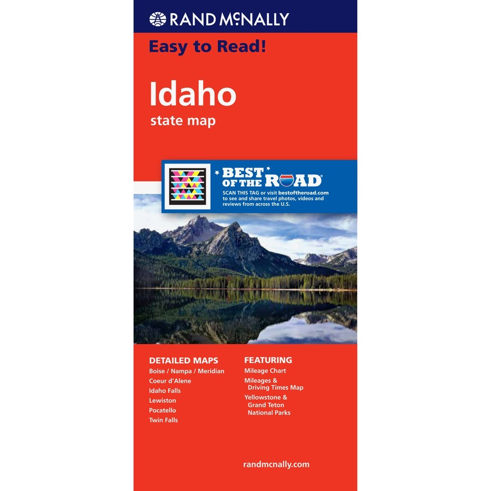Easy To Read Idaho State Map
