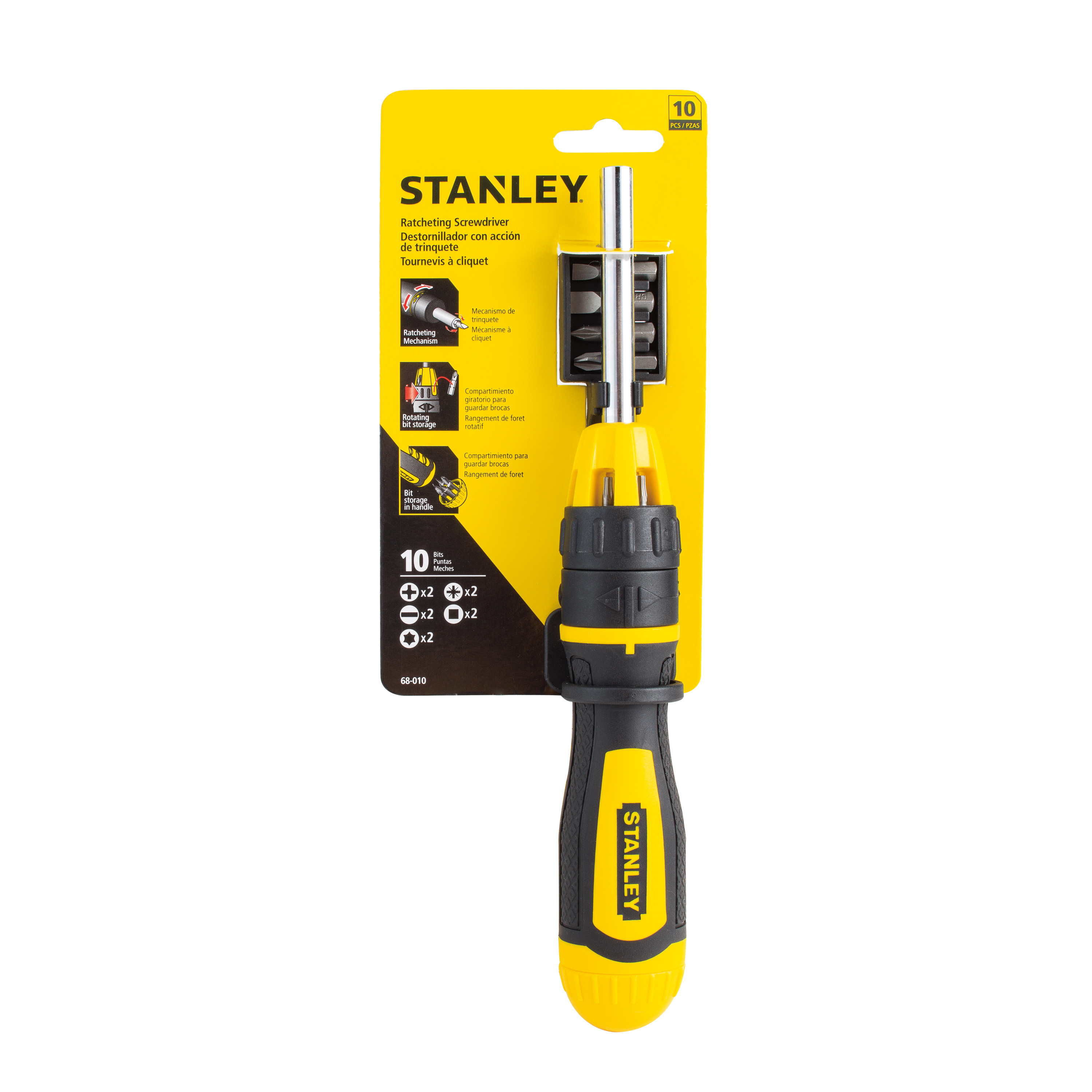 STANLEY® 68-010W - 10pc Ratcheting Screwdriver