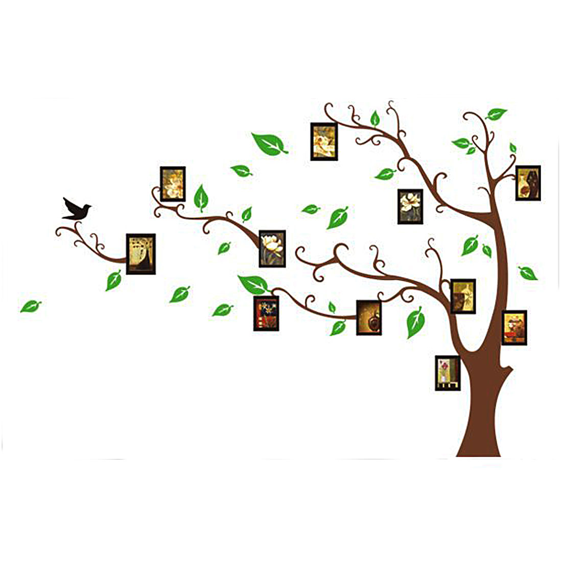 Photo Frame Tree Pattern Wall Sticker Paper Mural 90 x 60cm - image 3 de 3