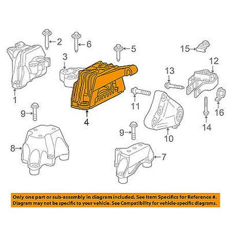 Dodge CHRYSLER OEM 13-15 Dart-Engine Motor Mount Torque Strut - New Oem Motor Mount